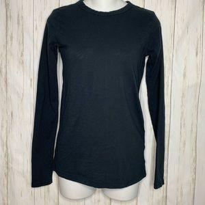 Rag & Bone Shirt Long Sleeve Tee Black Sz XXS